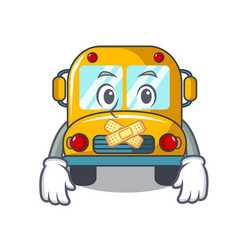 silent school bus mascot cartoon vector image