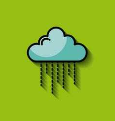 single cartoon cloud image vector image