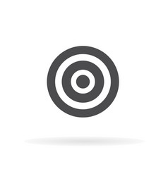 target icon for web business finance and vector image