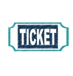 ticket entrance isolated icon vector image