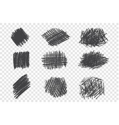 Types different pen hatching hand drawn set vector