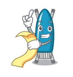 with menu iron board mascot cartoon vector image