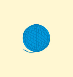 Wool icon flat element of vector