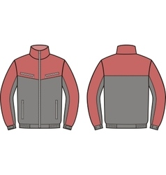 Work jacket Front and back vector