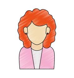 color pencil half body faceless woman executive vector image vector image