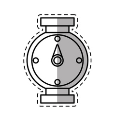 Compass location gps travel shadow vector
