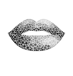 glamour lips vector image vector image