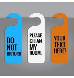 Set of hotels door hanger tags vector image vector image