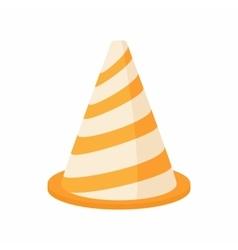 Traffic cone icon cartoon style vector image vector image