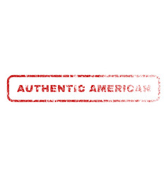 authentic american rubber stamp vector image vector image