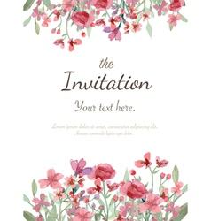 Flower invitation card vector