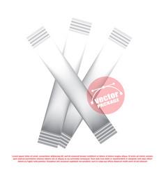 foil stick packaging for the dry beverage salt vector image vector image