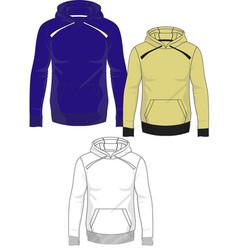 mens hoodie template vector image vector image