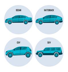 sedan saloon passenger automobile hatchback vector image vector image