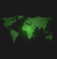 World map city lights in green degraded and vector image world map of concentric rings green led light vector image gumiabroncs Choice Image