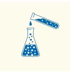 Chemical icon flat design vector image