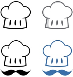Chief Hat with Mustache Collection vector image vector image