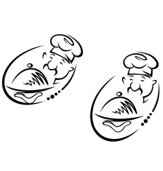 Chinese chef vector image vector image