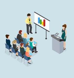 mentoring and coaching public speech concept vector image vector image