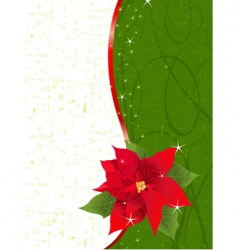 poinsettia place card vector image vector image