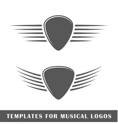 templates for music labels vector image