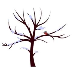 Tree winter sign vector image