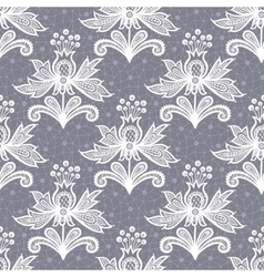 White lace flower isolated on Gray background vector image vector image