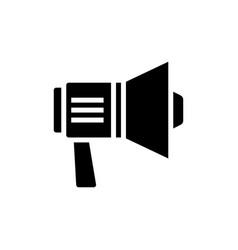 loudspeaker simple icon vector image