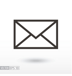 message flat icon sign envelope vector image vector image