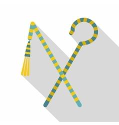 Pharaoh symbols icon flat style vector image vector image