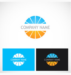 round shape colored globe company logo vector image vector image