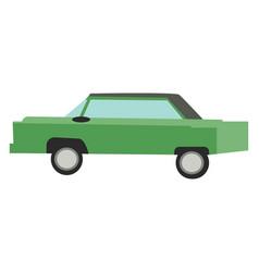 a green vintage car or color vector image