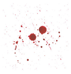 abstract blood splatter on white background vector image
