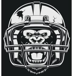 Aggressive gorilla vector