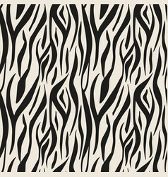 animal print zebra texture background black and vector image