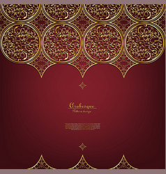 Arabesque thai element elegant gold background vector