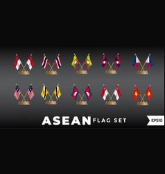 Asean flag design template vector
