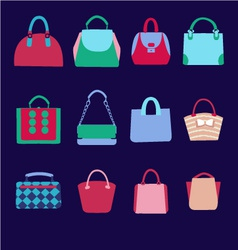 ashion bags collection of Women vector image vector image