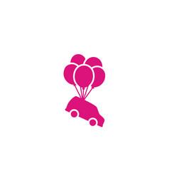 balloons car gift birthday party door prize logo vector image