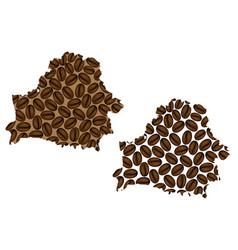 Belarus - map of coffee bean vector