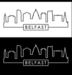 Belfast skyline linear style editable file vector