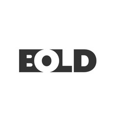 Bold logo lettering with negative space vector