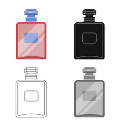 Bottle of french perfume icon in cartoon style vector