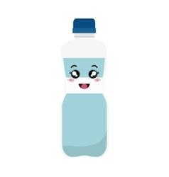 Bottle water kawaii style vector