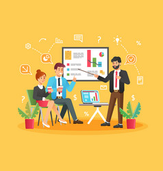brainstorming creative team idea discussion people vector image