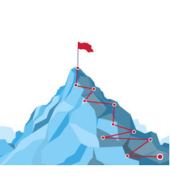 Career growth concept mountain route infographic vector