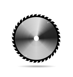 Circular saw blade on white background vector