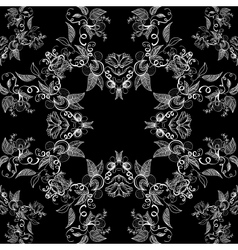 Classic decorative seamless black-and-white vector image