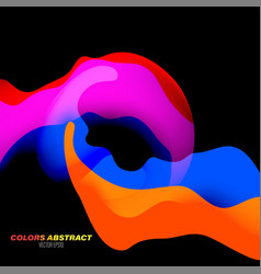 Colors motion scene on a black vector