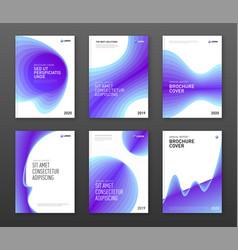 Corporate brochure cover design templates set vector